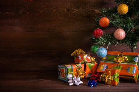christmas tree presents: Many Christmas presents under the tree