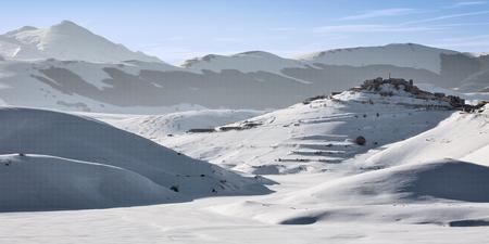 castelluccio: Castelluccio of Norcia in winter Stock Photo