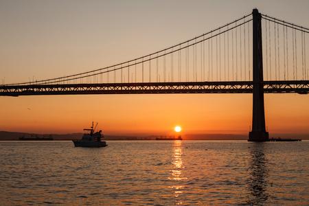 bay bridge: Oakland Bay Bridge at sunrise, San Francisco, California