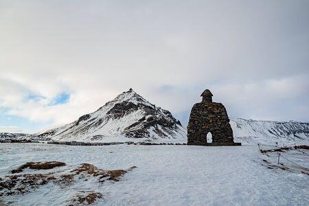 Bardar saga statue in Arnarstapi village, Iceland