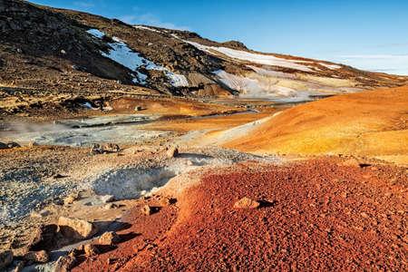 Krysuvik sulfuric area in Reykjanes peninsula, Iceland