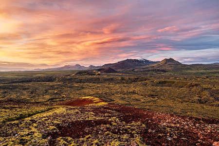 Grundarfjordur mountains in Snaefellsnes peninsula at sunrise, Iceland
