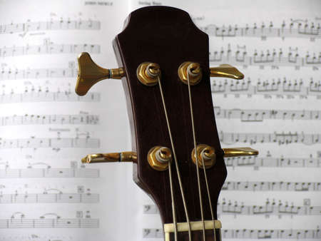 delineate: Silhouette from a guitar