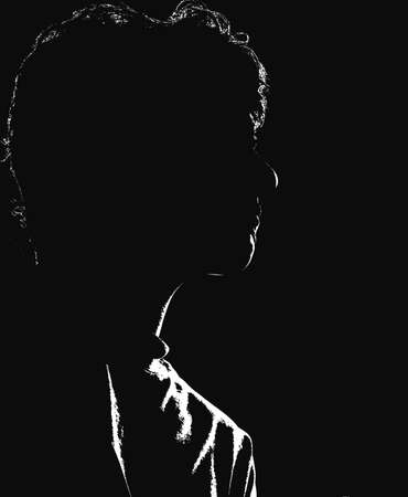 delineate: Silhouette from a woman