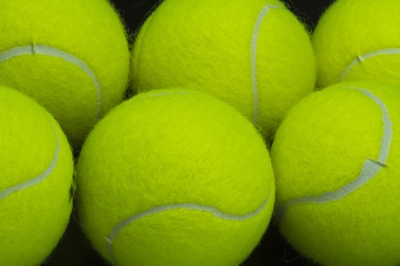 background of tennis balls photo