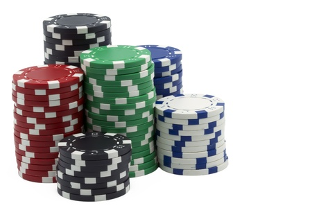 tokens: isolated poker tokens on white