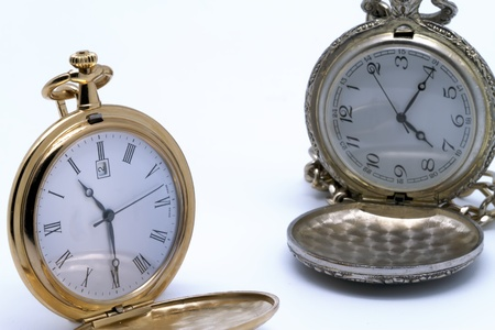 pocket watches  on white background photo