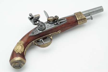 violence and trigger: replica of the gun that belonged to Napoleon Bonaparte Stock Photo
