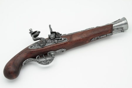 picture of the replica of an old pirate pistol photo