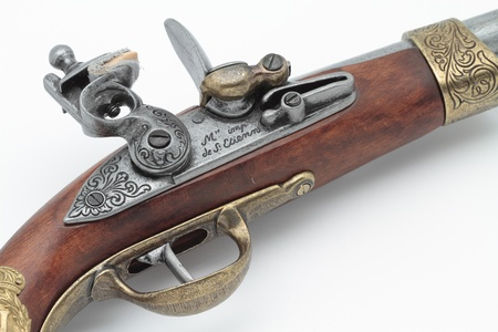 Foreground hammer and trigger gun that belonged to Napoleon Bonaparte Stock Photo - 16386182