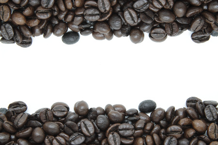 decaffeinated: background with some coffee beans Stock Photo