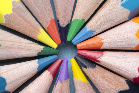 interleaved: foreground of some crayon mines forming a circle