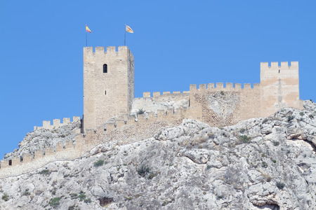 xv century: the castle of Sax is a fortress of century XV on the province of Alicante, spain Stock Photo