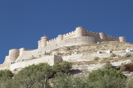 xv century: the castle of Chinchila is a fortress of century XV on the province of Albacete, spain