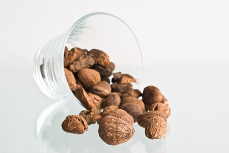 shea nuts in a glass