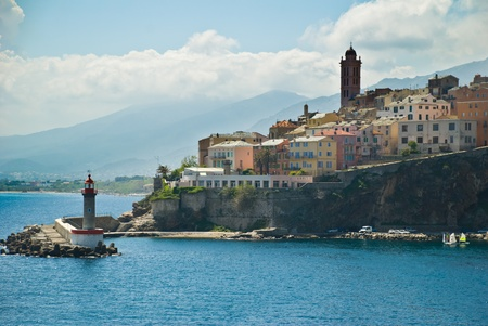 View of Bastia (Corse, France) from the sea