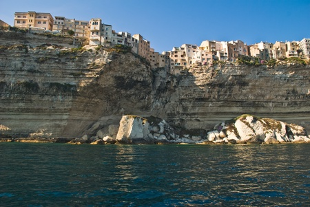France, Corsica, a view of Bonifacio from the sea during the turistic tour Stock Photo