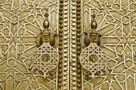 floreal: The golden doors of the Royal palace In Fes, Morocco