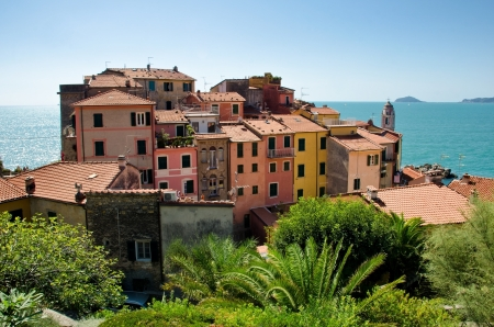 Tellaro, tipical ancient village in Liguria, one of the italian regions  Stock Photo