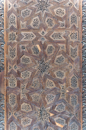 floreal: Inlay work on a moroccan door, Fez