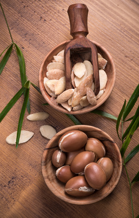 argan: Composition of argan fruits and  seeds used for  skin care