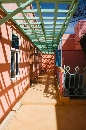 colourful sky: Colorful houses in Morocco