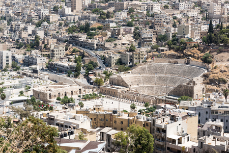 pius: The Roman theatre of Amman, built during Emperor Antoninus Pius and restored in 1957