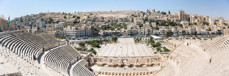 pius: The Roman theatre of Amman, built during Emperor Antoninus Pius and restored in 1957