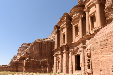 nabatean: The nabatean monument called monastery in Petra, Jordan