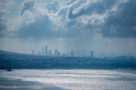 Skyline view from the Galata Tower in Istanbul Stock Photo