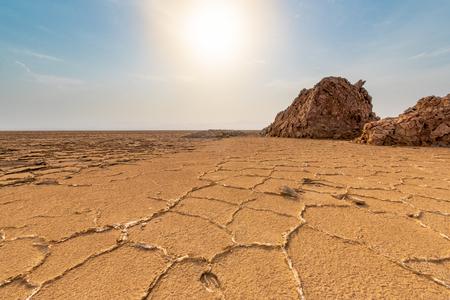 Salt formations in the Danakil depression, ethiopia
