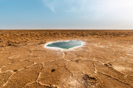 Salt formations in the Danakil depression, ethiopia