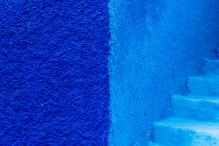 blue walls in Chefchaouen Stock Photo