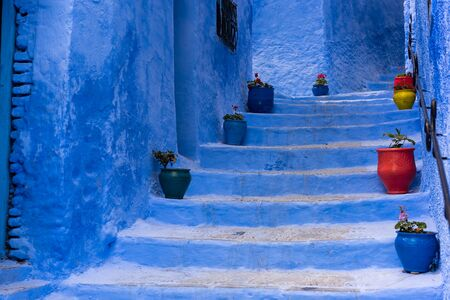 Blue staircase in Chefchaouen