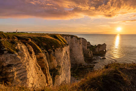 Beautiful falaise of Etretat, Normandy, france