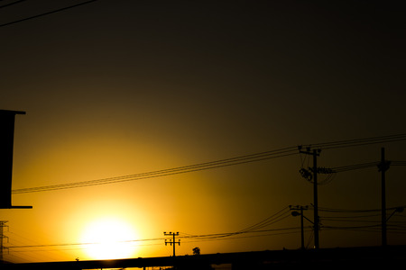obscuring: The sun goes to sleep. Stock Photo