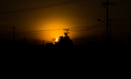 obscuring: A beautiful sunset. Stock Photo