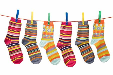 Waschen Zeile der Socken