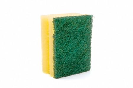 scouring: sponge on white background