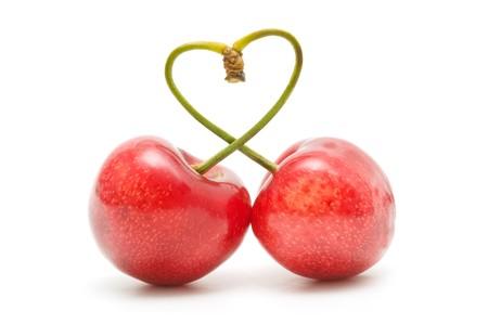 Cherry heart Stock Photo - 7523658