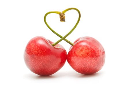 Cherry heart Stock Photo - 7523658