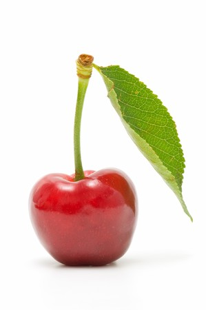 cherry on white background Stock Photo - 7523599