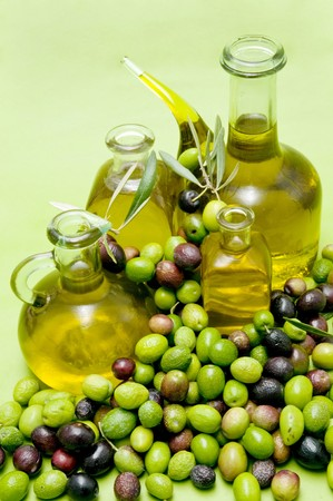 olive oil and olives Stock Photo - 8188217