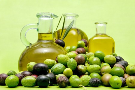 olive oil and olives Stock Photo - 8188207
