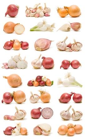 collection of garlic and onions Zdjęcie Seryjne