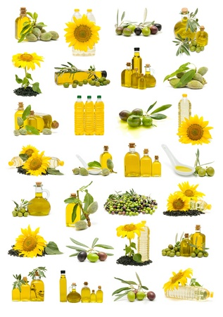 huile: olive oil and oil sumflower