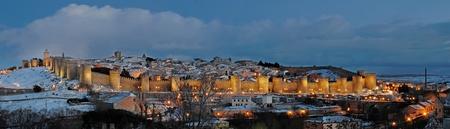 panoramic city of Avila photo