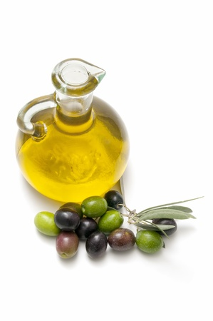 olive oil and olives photo