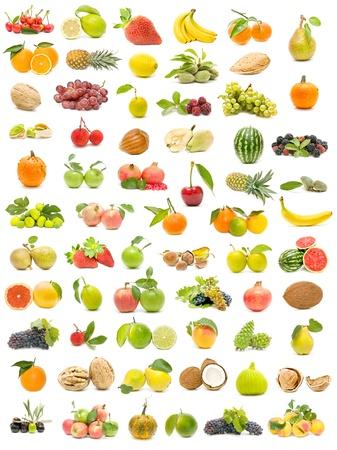 feuille de vigne: collection de fruits écologiques