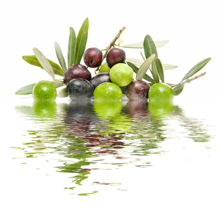 water of olives Stock Photo